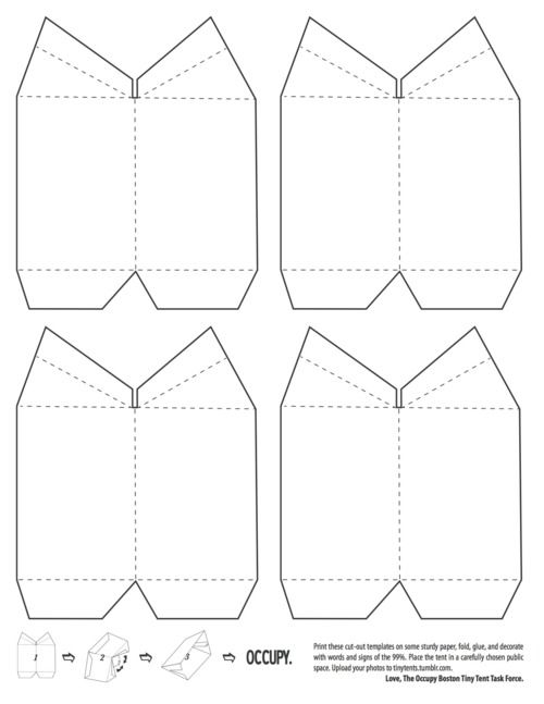 Tiny Tent Template | Craft Ideas | Pinterest | Tents, Paper Design