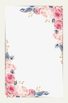 Beautiful Little Fresh Border Vector Material Flower Borders Small PNG And