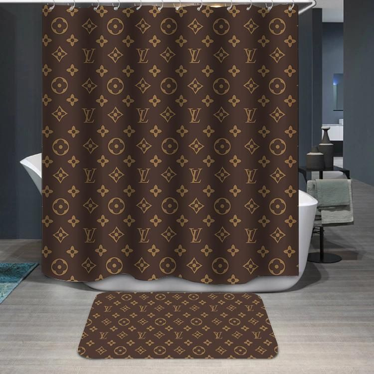 d7613b3a6c Louis Vuitton Logo Pattern Custom Shower Curtain in 2019