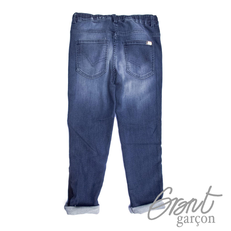 Photo of Fleece bukser med denimtrykk