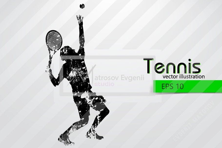 Silhouettes Of A Tennis Player Set In 2020 Tennis Players Tennis Silhouette