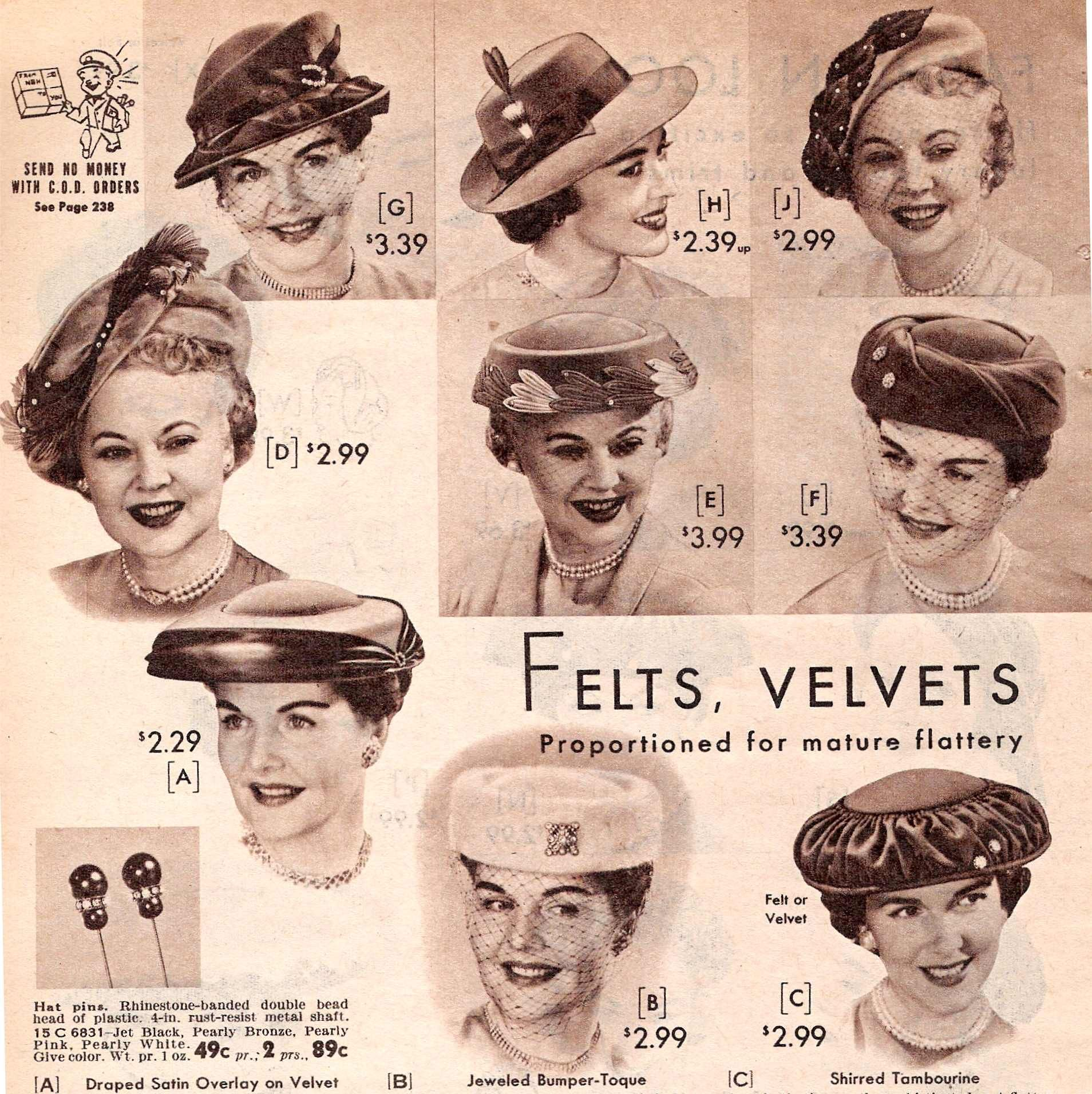 History of women s 1950s hats including popular hat styles  pillbox 1eade53cadc