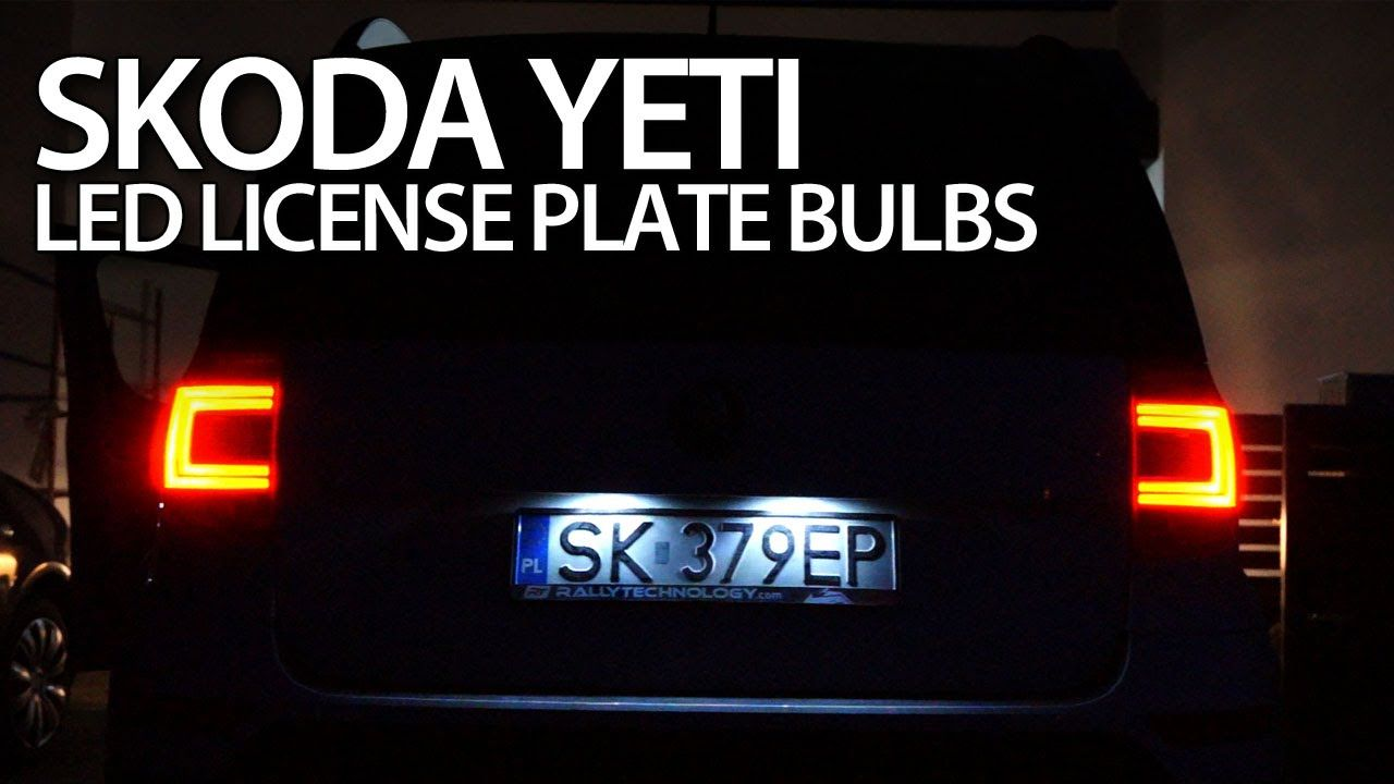 How To Replace License Plate W5w Bulbs In Skoda Yeti With Led