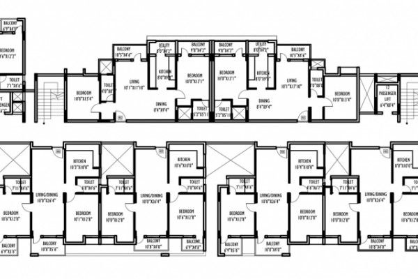 4 storey commercial building floor plan for Commercial building blueprints free