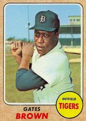 1968 Topps Gates Brown 583 Baseball Card 1968 Detroit Tigers