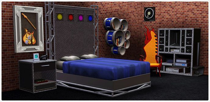 Front Row Center Bedroom - Store - The Sims™ 3