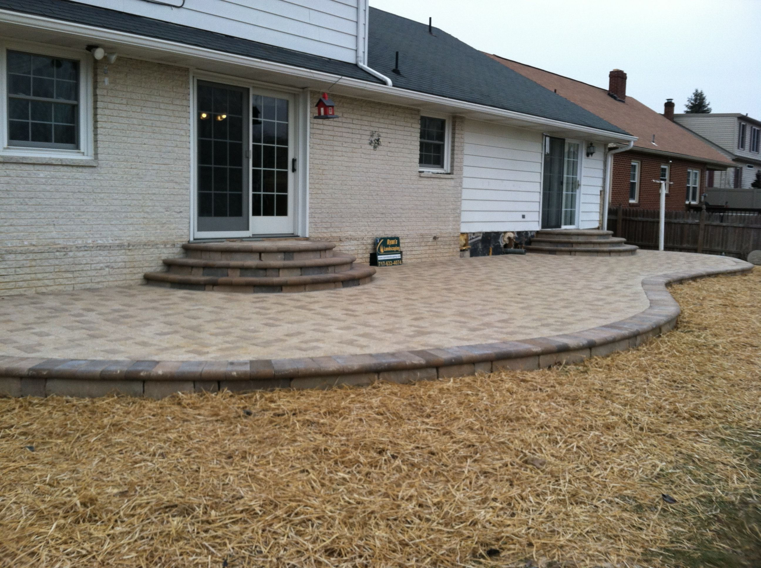 Paver Patios on Pinterest | Concrete Patios, Small Patio ... on Brick Paver Patio Designs id=58769