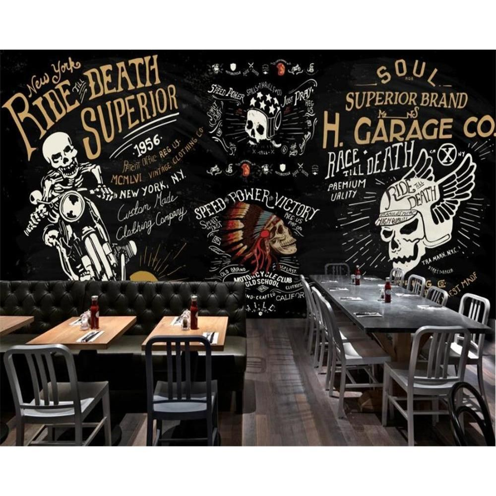 3d skull rider wallpaper mural skullflow https www skullflow com