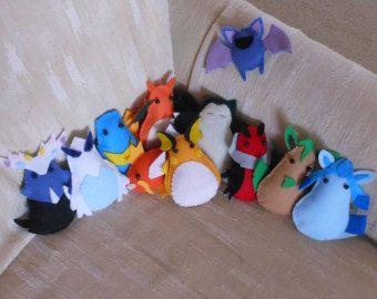 Pokemon Felt Plushies: Made-to-Order