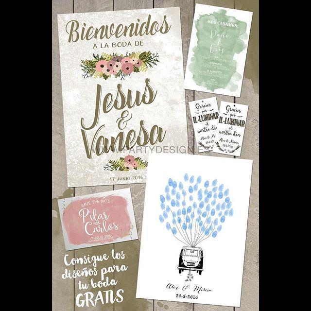Laides & Gentlemen!!! Estad atentos porque esta semana os explicaremos como conseguir los diseños personalizados para vuestra boda GRATIS!!! www.partydesign.es #love #happy #invitados #invitaciones #savethedate #bodas #fiesta #arboldehuellas #partydesign