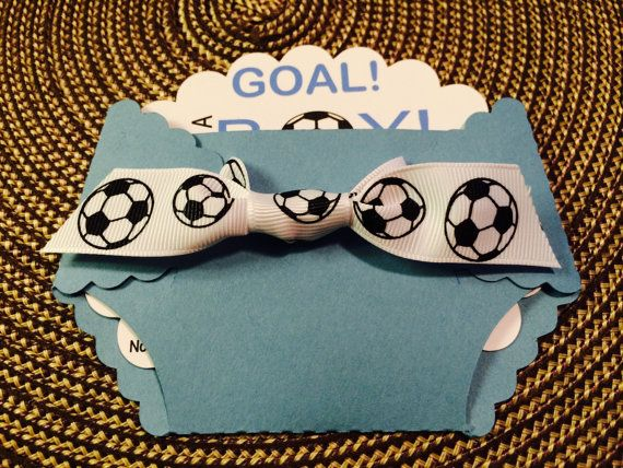 Soccer Goal Baby Shower Diaper Invitation By Annasinvitationshop