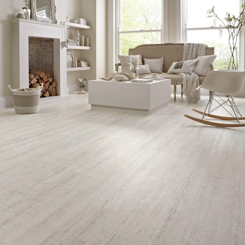 Kp105 White Painted Oak Living Room Flooring Knight Tile White