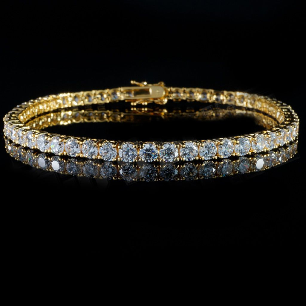 18k Gold Tennis Bracelets Are Now Available On Https 24k Jewelry Com Product 3mm Gold Tennis Bracelet Je Jewelry Tennis Bracelet Diamond Gold Chain Jewelry