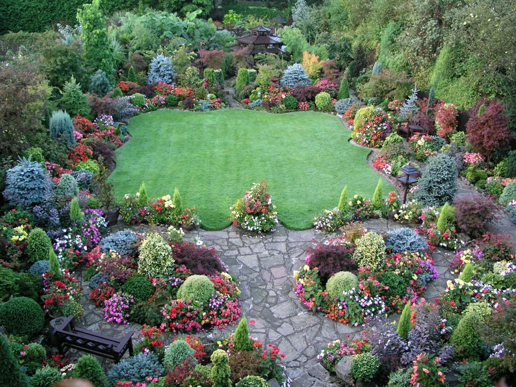 English Garden Beautiful 19 Patio And