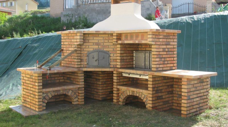 Tourne Broche Fait Maison Barbecue En Brique Construire Un Barbecue Barbecue En Pierre