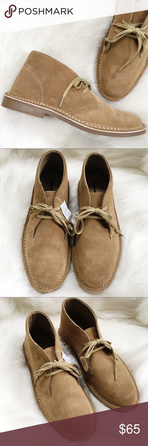 e5d6b50e9 AEO Tan Suede Chukka Boots-Size 9-NWT New with Tags and no box Inside brand  name has strike through 100% genuine leather upper Rubber soles US 9 Lace  ups ...