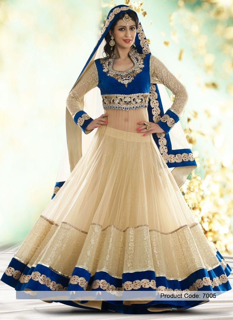 Red heavy bridal anarkali frock 7 suitanarkali in - This Anarkali Suits In Glorious Off White And Blue Combination Is Comfort To Wear In Any