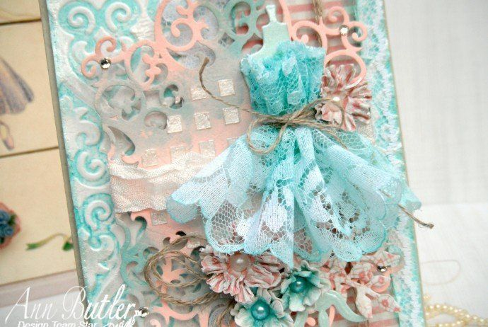 Shabby Chic card made by Design Star Gracielle for Ann Butler Designs