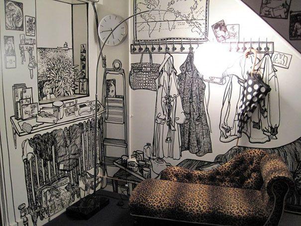 9 dessins murs charlotte mann doodle pinterest. Black Bedroom Furniture Sets. Home Design Ideas