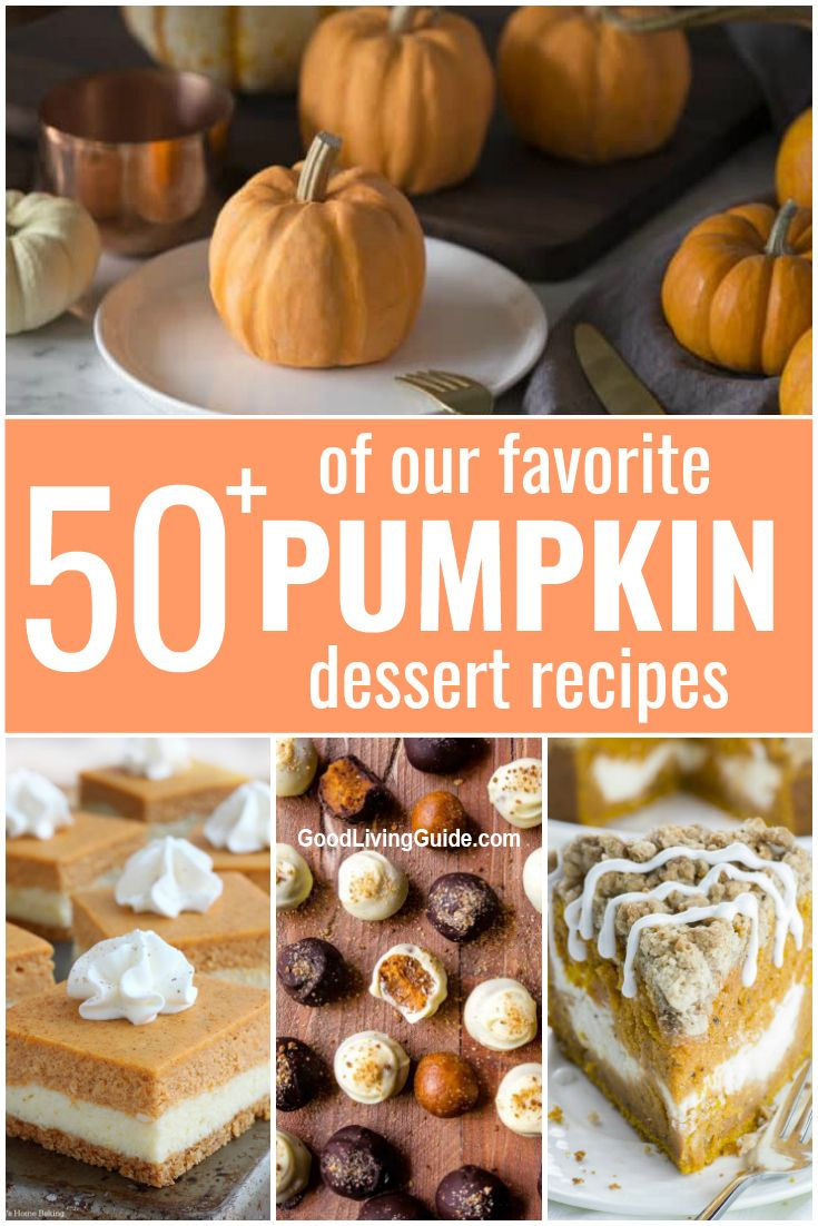 The very best Pumpkin Dessert Recipes that are guaranteed to satisfy your craving for the sweet, earthy, and spicy flavor of pumpkin! #pumpkindesserts