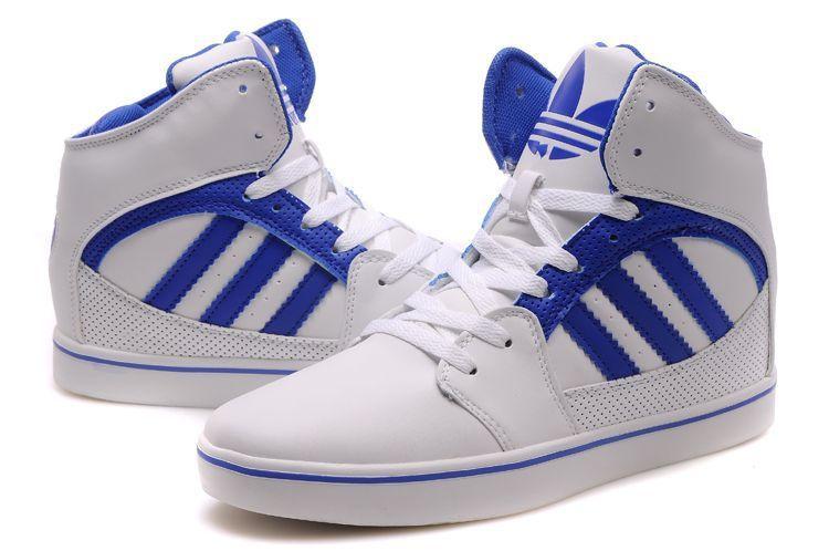 Adidas High Tops White Blue