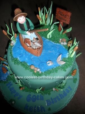 Coolest Fishing in a Boat Cake Boat cake Homemade butter and