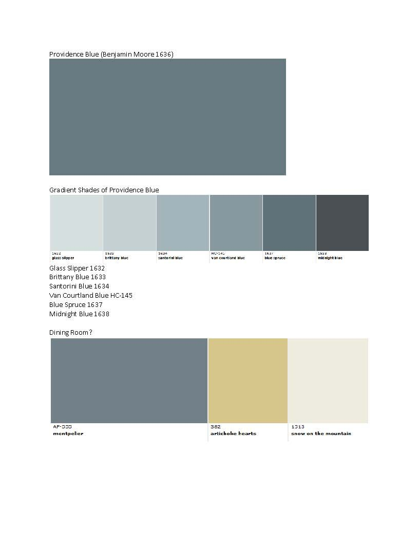 Benjamin moore providence blue 1636 blue teal gray wall for Creamy grey paint color