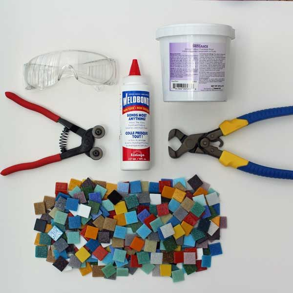 Mosaic Art Starter Kit with Compound Nipper