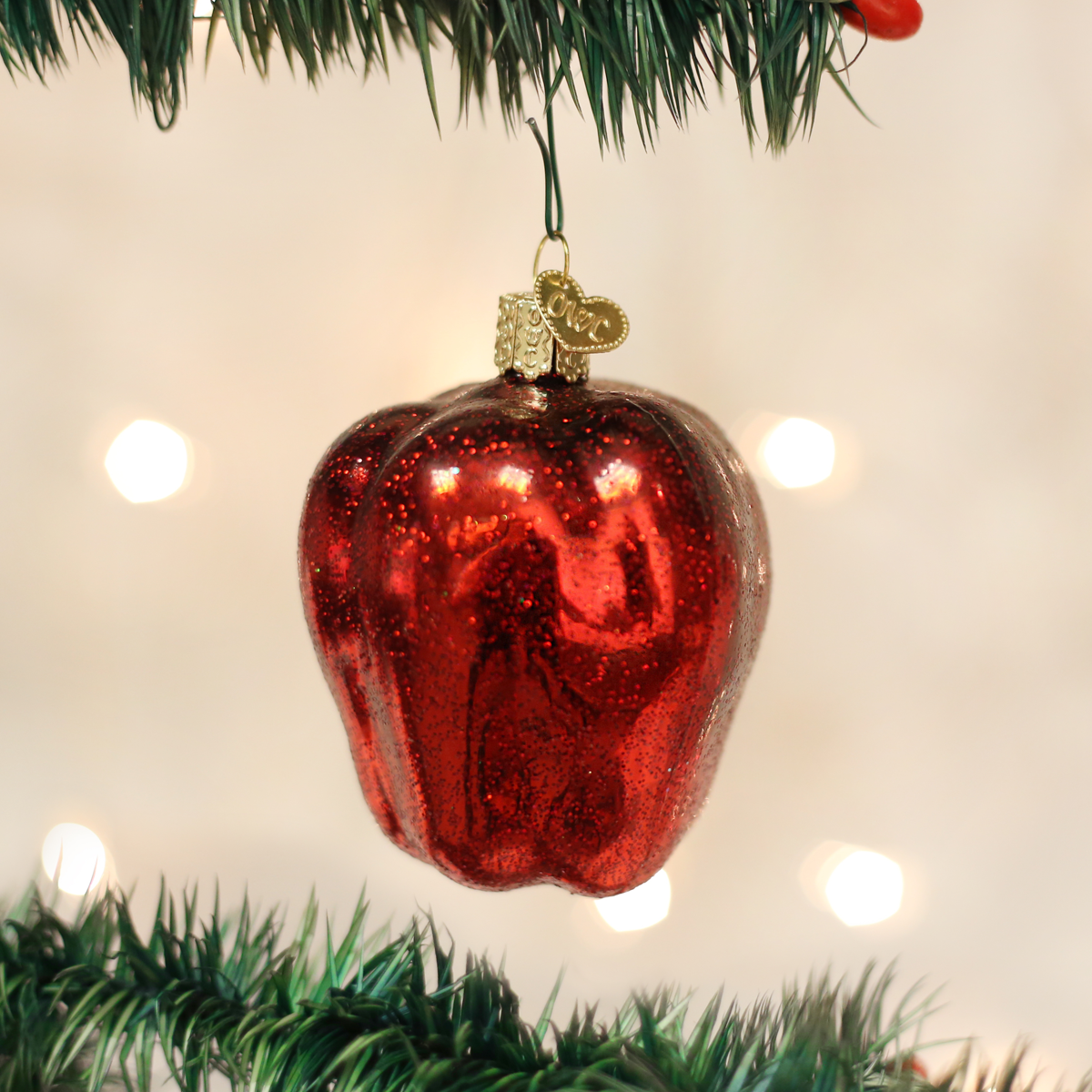 Is A Christmas Tree A Religious Symbol: Red Delicious Apple Ornament