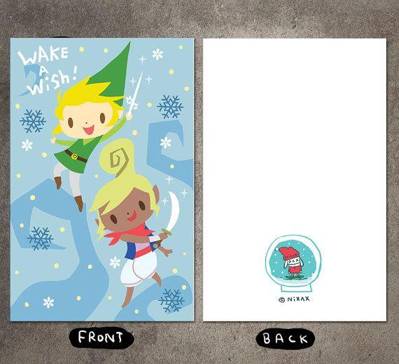Zelda Christmas / Christmas Card / Unique Christmas Card