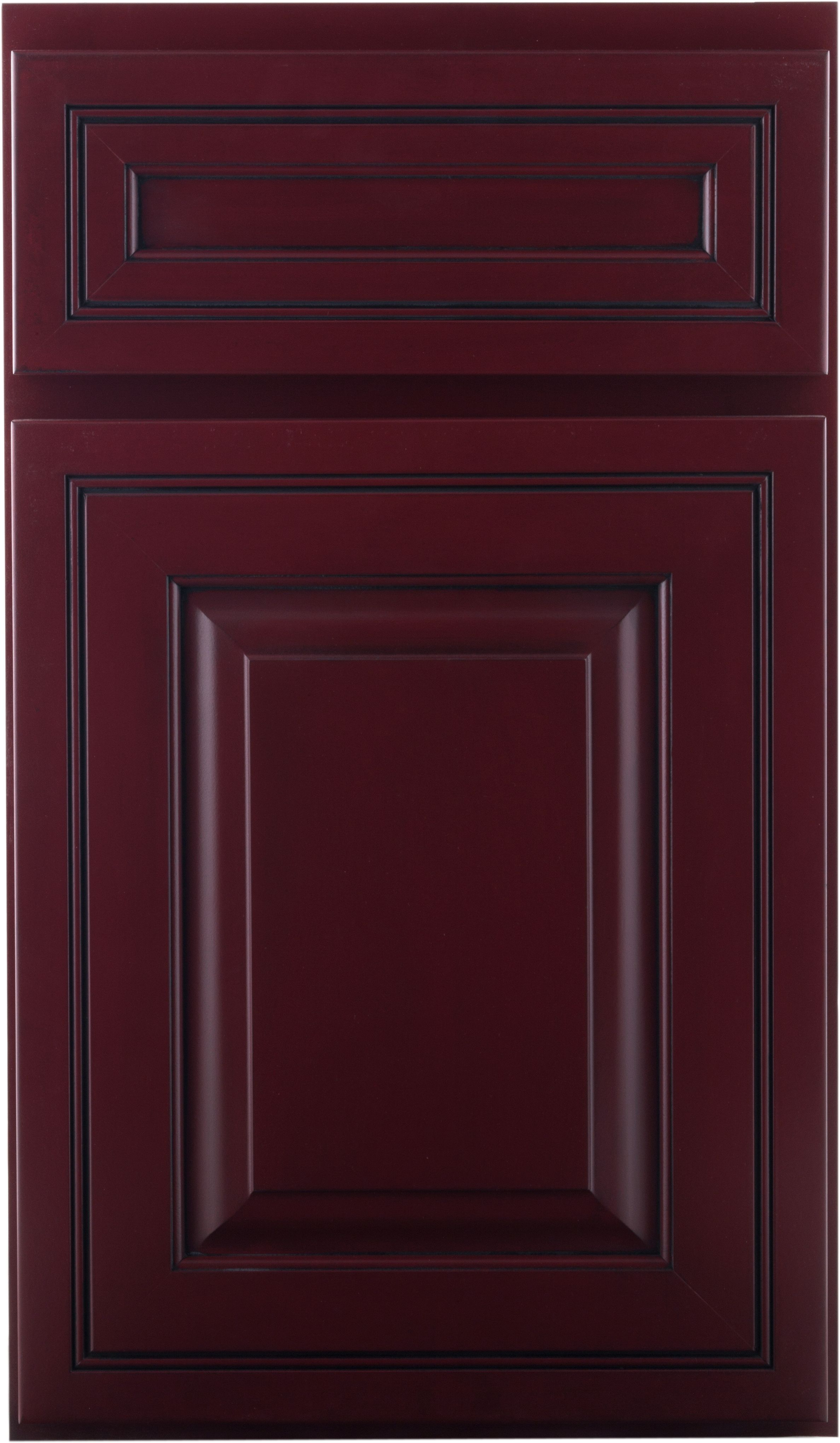 Crown Cabinets Sedona Maple Brick Red Black Glaze | Crown Cabinets ...