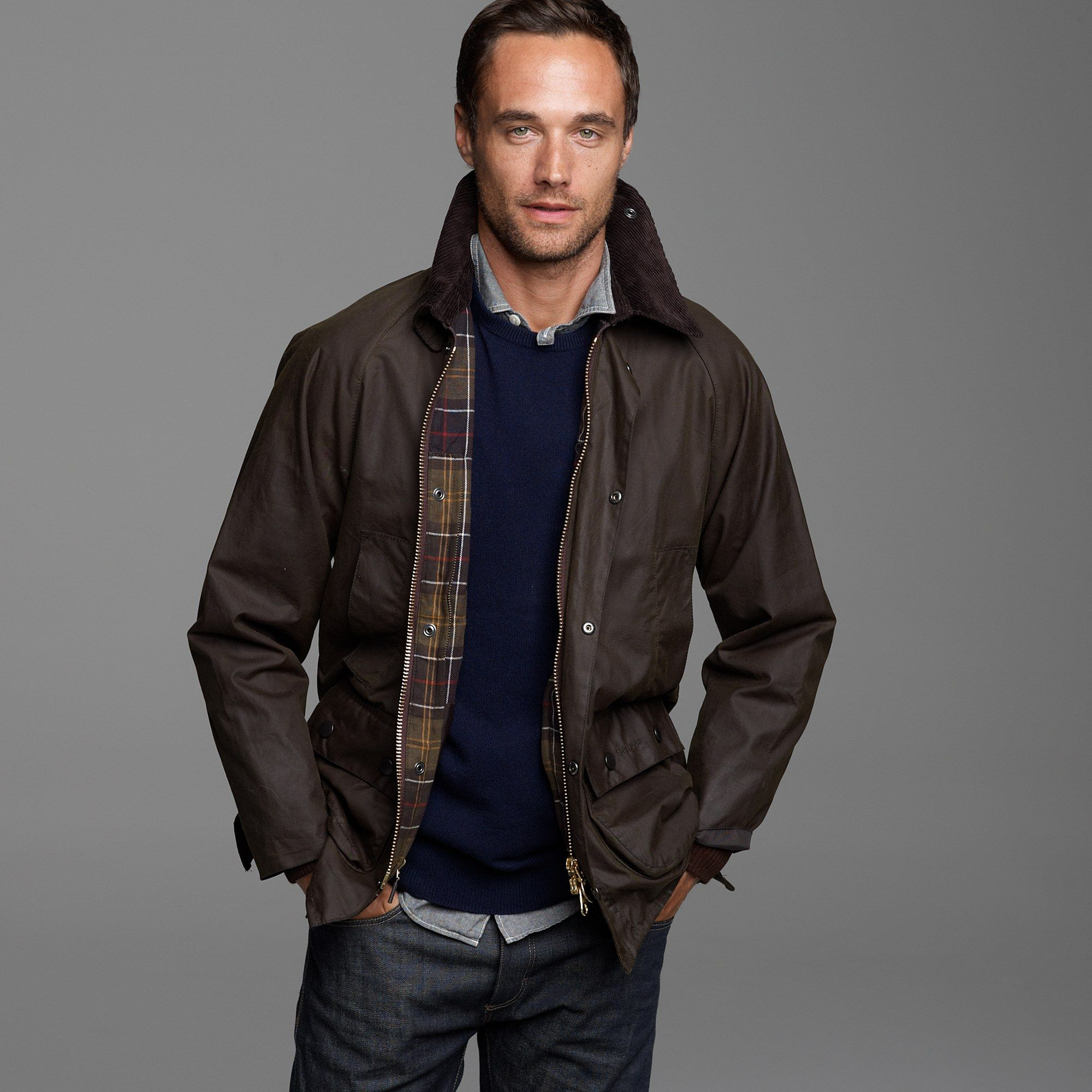 d828debbeb J.crew Barbour Sylkoil Bedale Jacket in Brown for Men (olive) | Lyst ...