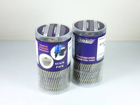 Nailpro 1 1 2 Inch By 0 120 15 Degree Wire Coil Ring Shank Roofing Nail Stainless Steel 720 Pc Stack Roofing Nails Stainless Steel Rings Stainless Steel