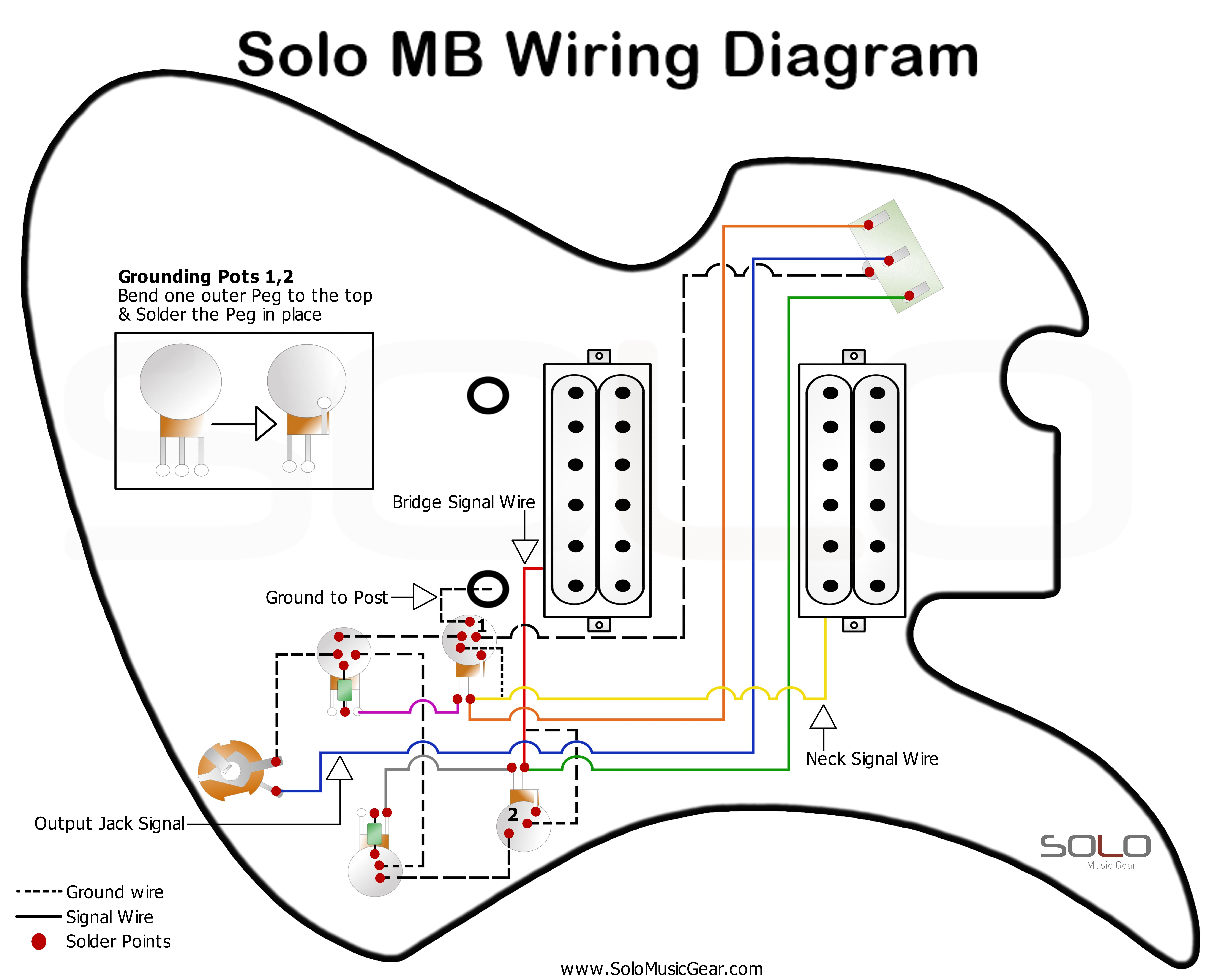 Guitar Wiring Diagrams Manuals Solo Music Gear Diagram Solo Music Wire