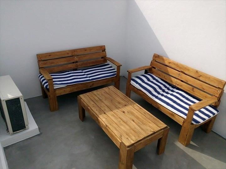 Exceptionnel DIY Outdoor Pallet Furniture For Terrace
