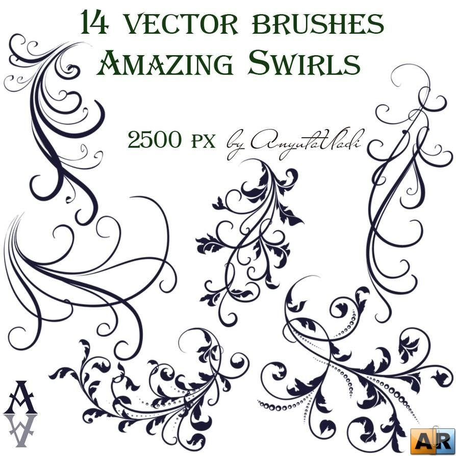 Vektornye Zavitki Poisk V Google Vector Brush Swirls Vector