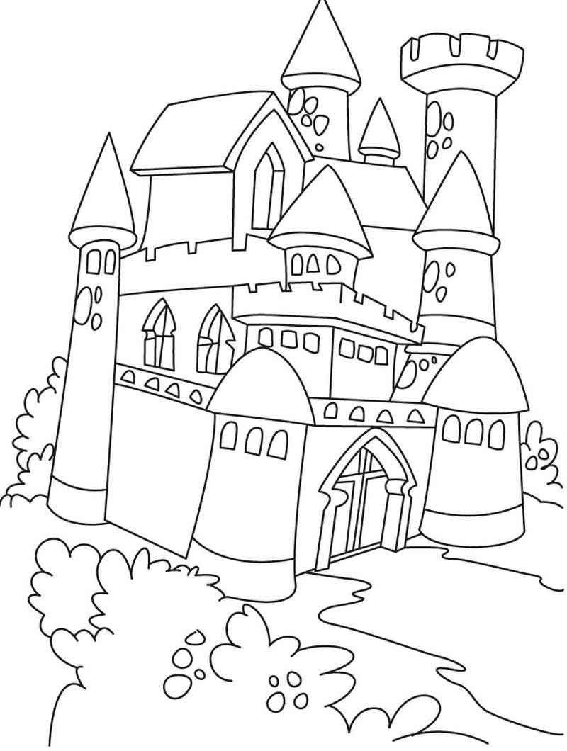 Castle And Princess Coloring Pages Princess Coloring Pages