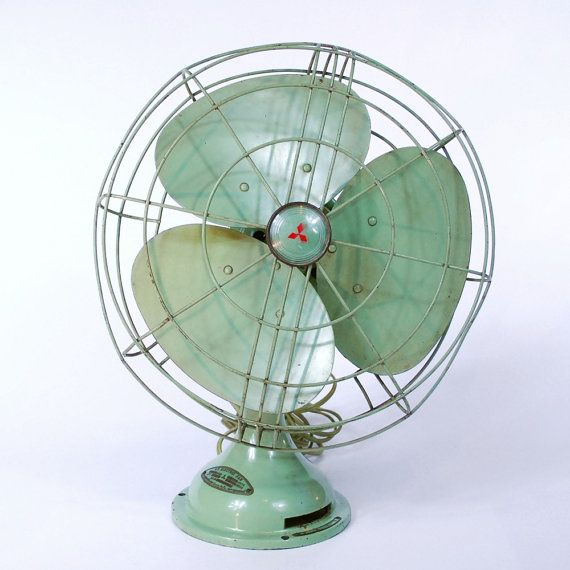 Vintage Electric Fan By Mitsubishi By Tworingcircus On Etsy