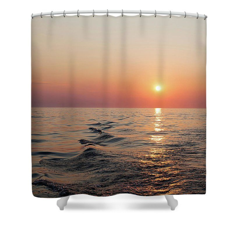 Sunset On Lake Michigan Shower Curtain For Sale By Melanie Alexandra Price Lake Michigan Curtains For Sale Michigan