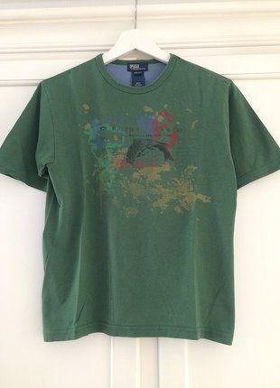 Kaufe meinen Artikel bei #Mamikreisel http://www.mamikreisel.de/kleidung-fur-jungs/kurzarmelige-t-shirts/35938462-dunkelgrunes-t-shirt-von-polo-by-ralph-lauren