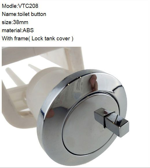 38mm Hole Toilet Flush Button Single Style Stand Support Tank Lock Function Vtc208 Bathroom Fixtures Flush Toilet Toilet