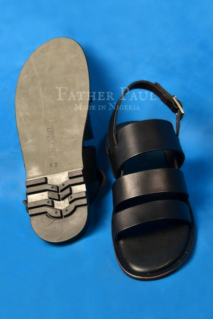 80ad2026a Black 'Zaddy Go' Sandals by Father Paul (Made in Nigeria). | Summer ...