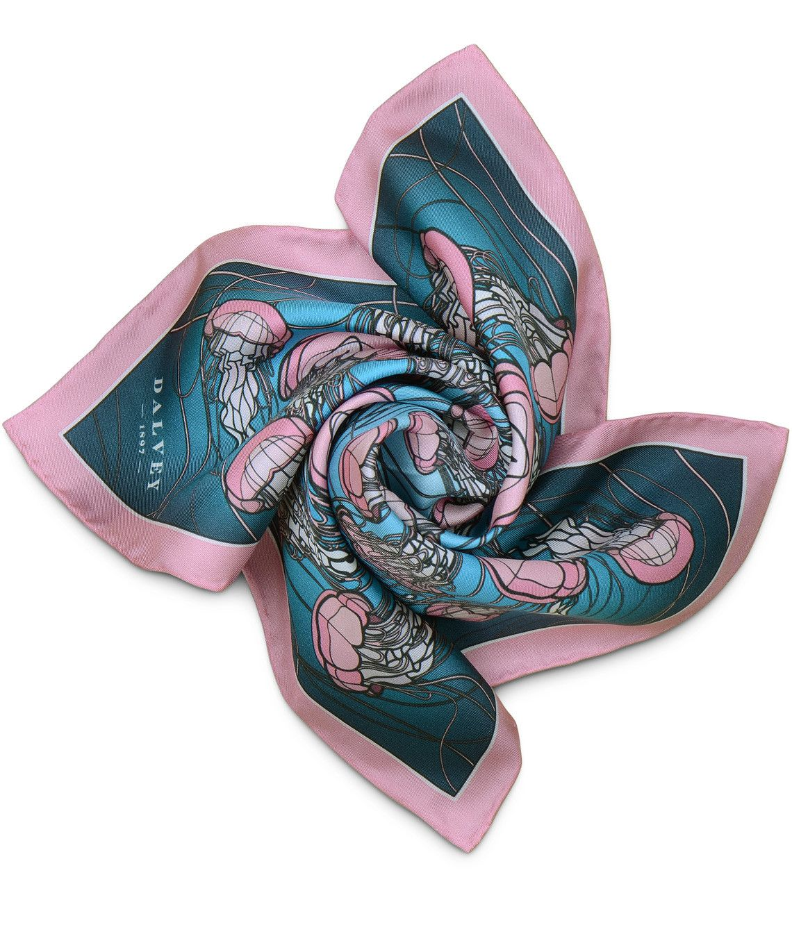 Pocket Square: Charybdis, Pink & Blue | Men's Gifts