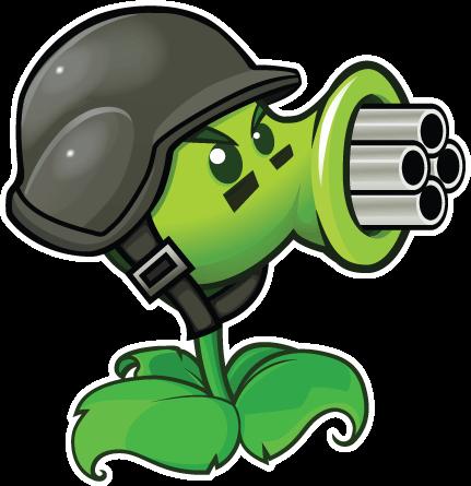 Gatling Pea Plantas Vs Zombies Personajes Plantas Versus Zombies Plantas Contra Zombis