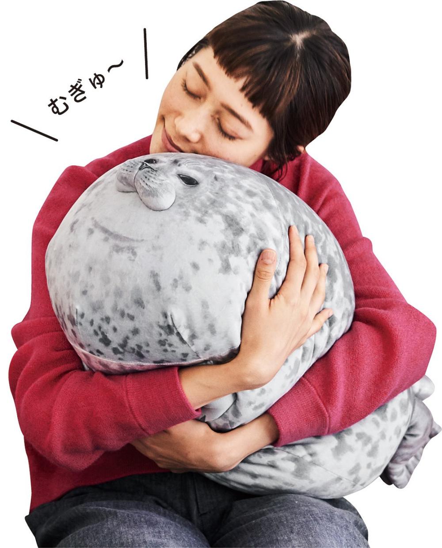 Rainlin Cute Blob Seal Pillow Round