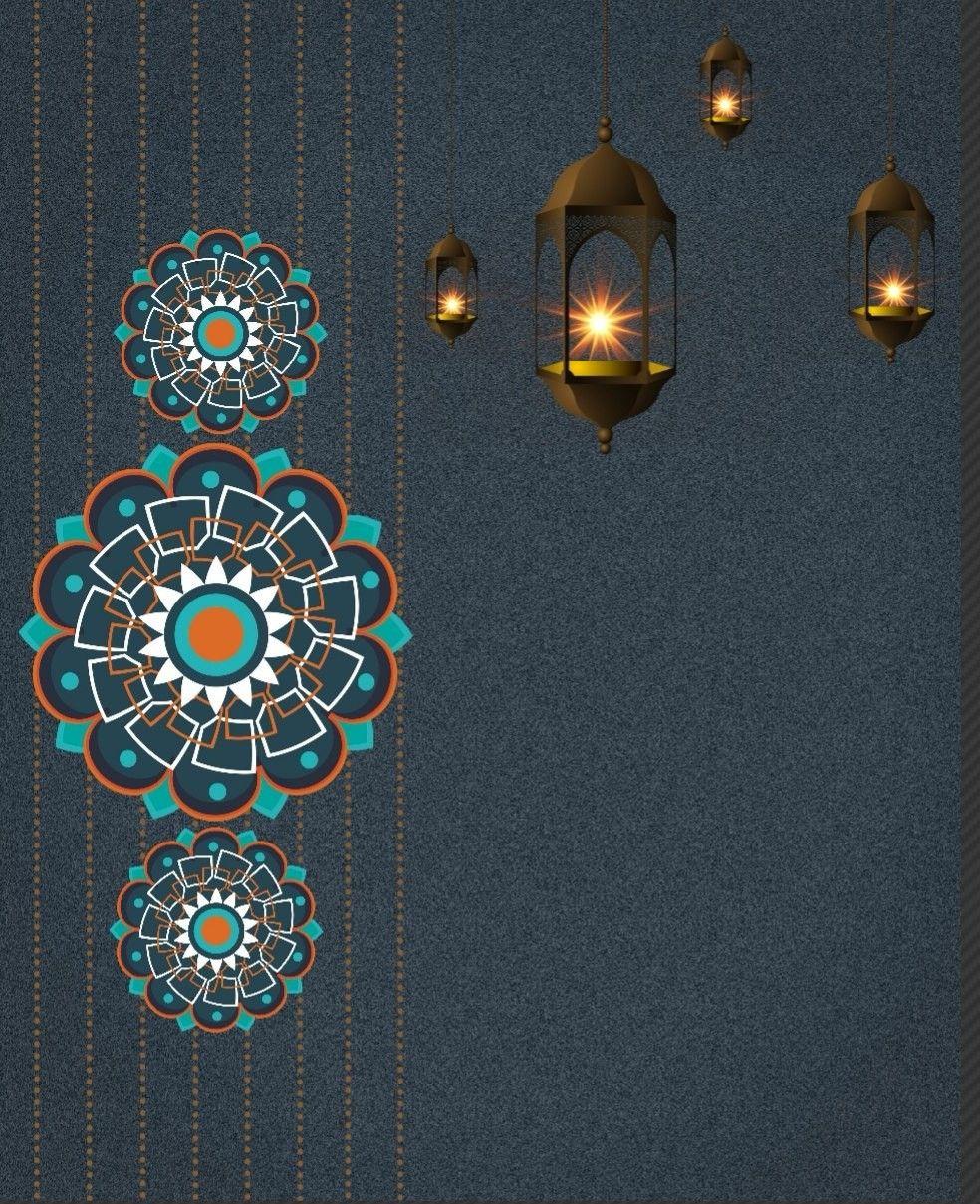 Selamat Hari Raya Seni Islamis Desain Banner Kartu