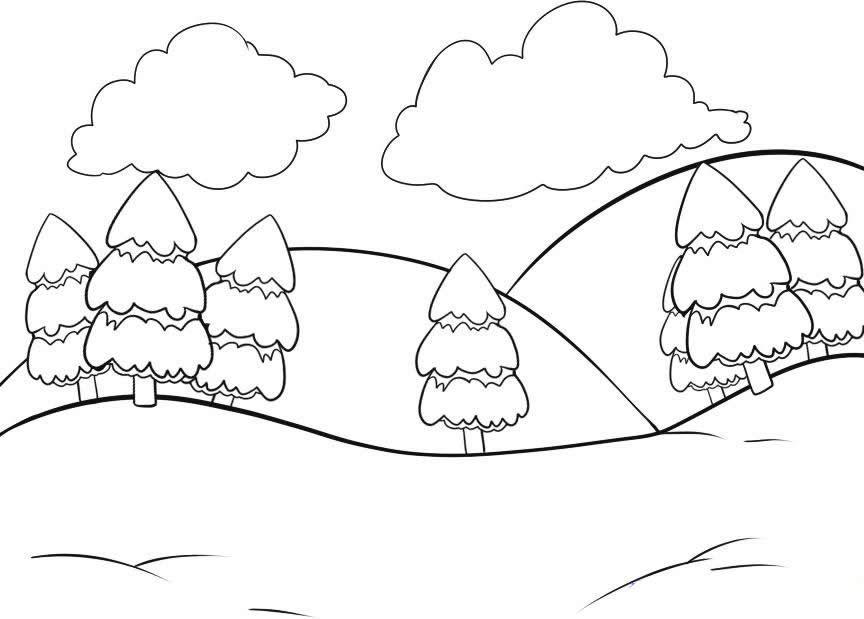 Resultado de imagen de prado dibujo infantil para colorear