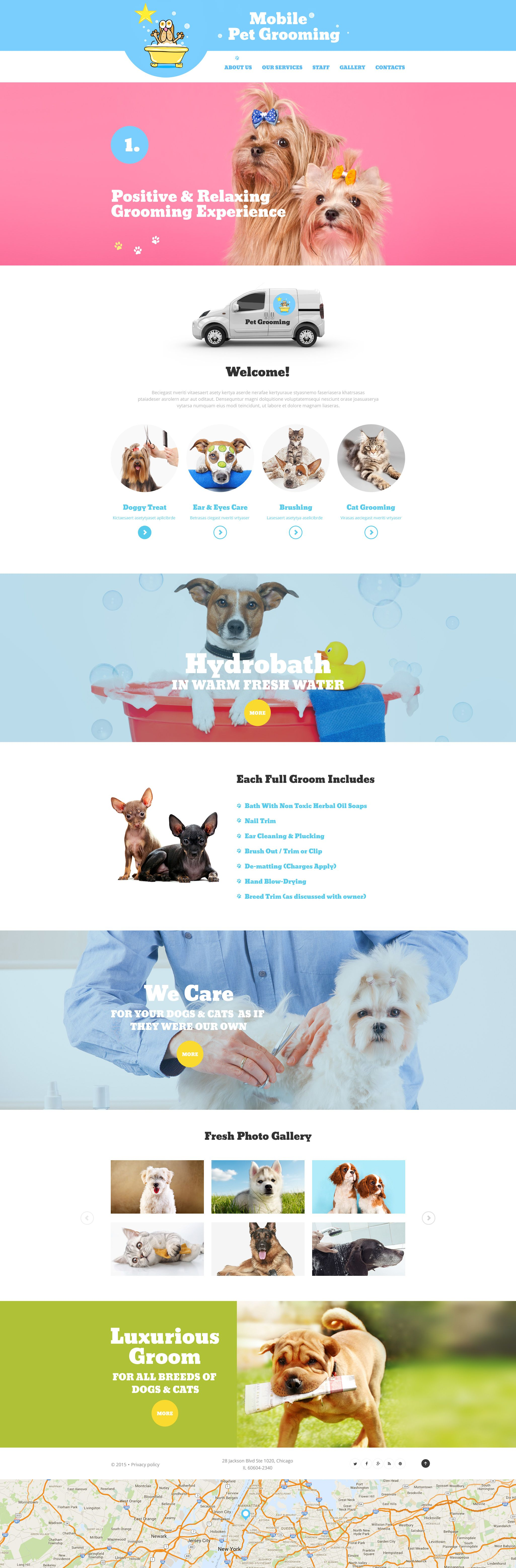 A Very Cute Pet Carer Website Template For A Pet Grooming Company Almost All Dog Breeds Need Grooming From Time To Time To Be Healthy Look And Smell Goo Layout