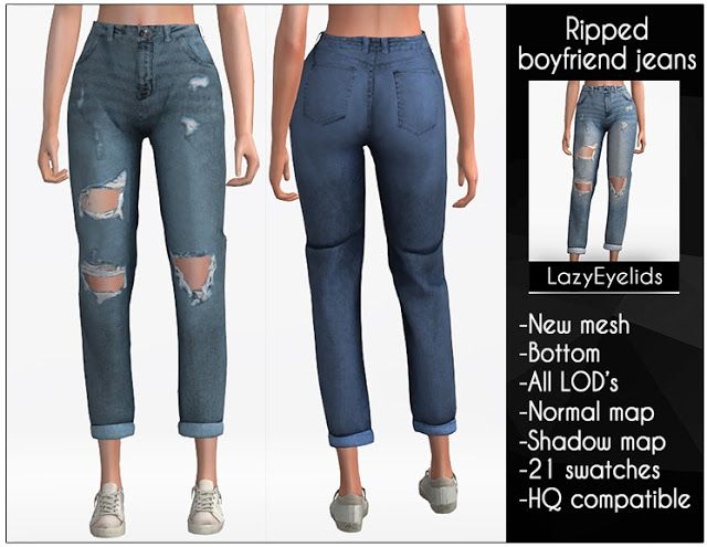 Photo of Sims 4 cc: Ripped boyfriend jeans