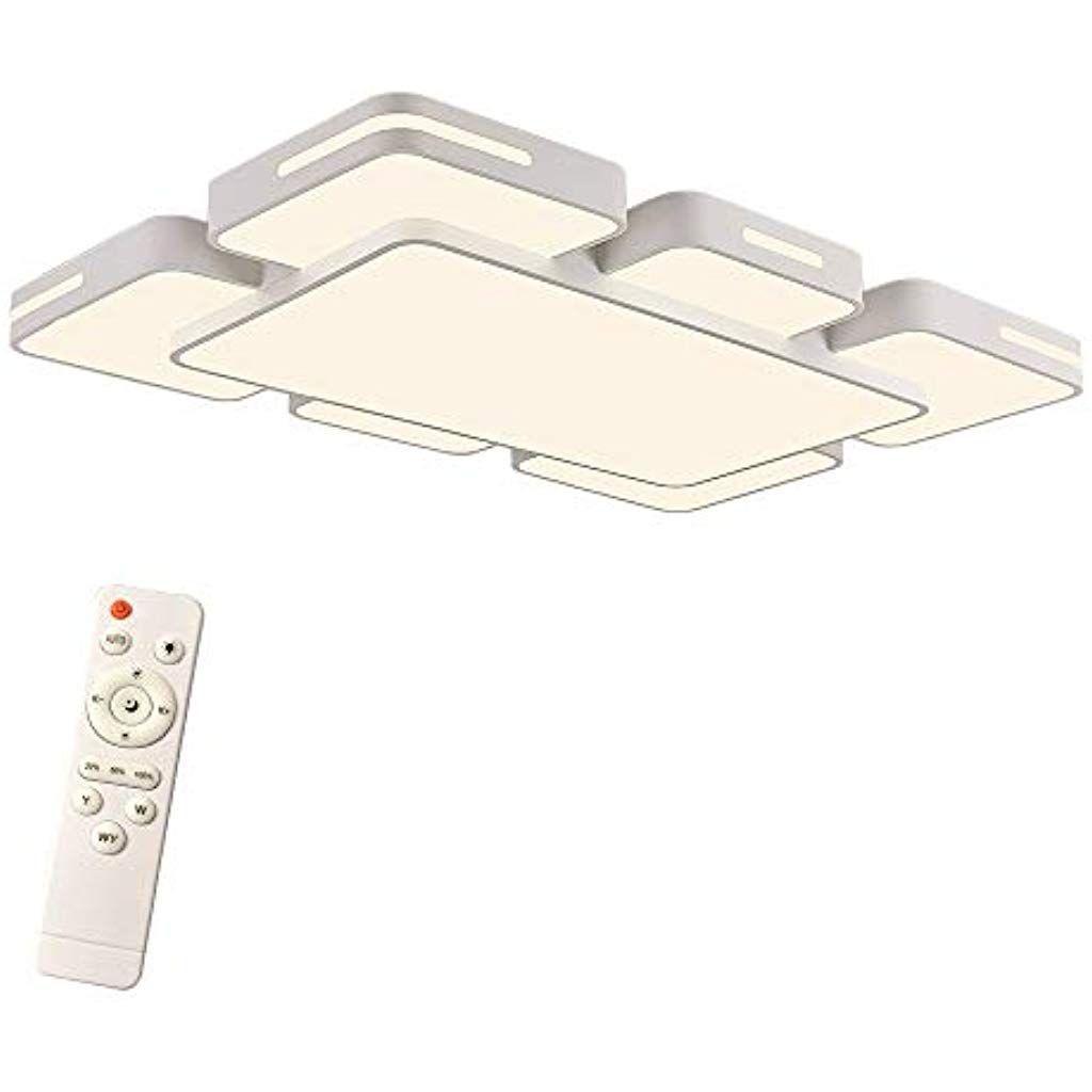 LED Deckenleuchte 72W Wohnzimmer Design Deckenlampe Beleuchtung Küche IP44 Weiß
